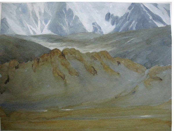 Mongolia, Acquerello e Guache 22.9 x 30.5, Riccarda de Eccher