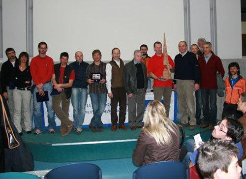 Momento di premiazione di tutti i partecipanti al premio Marco Dalla Longa, Cai Bergamo