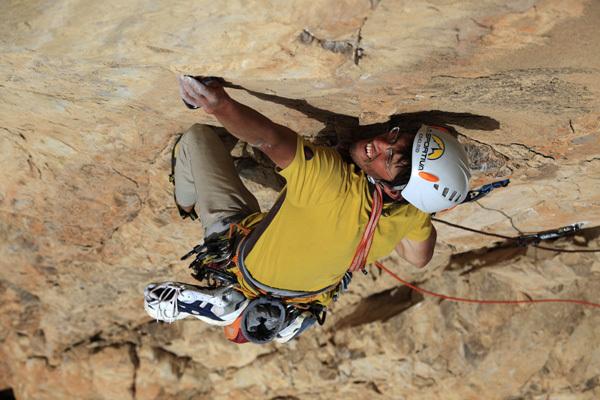 Hansjörg Auer climbing Fata Morgana