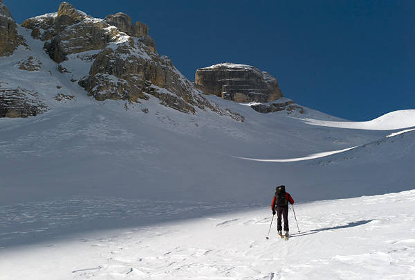 Ascending to Cima Conturines, 3064m, Dolomites., Francesco Tremolada
