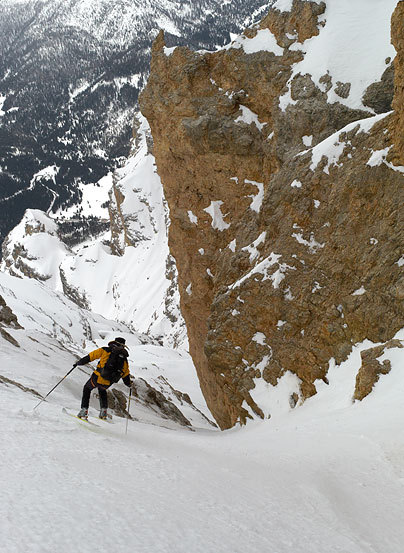 Descending the gully., Francesco Tremolada