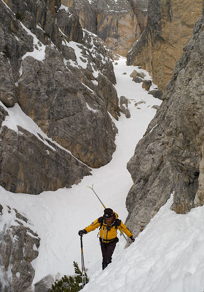 The traverse, with the final and less demanding section in the background., Francesco Tremolada