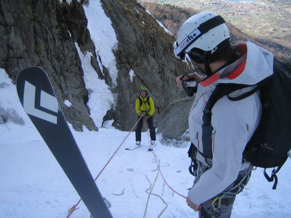 Cittadini della Galassia 1a discesa con gli sci per Lafranconi, Pina e Marazzi, arch. Fabrizio Pina