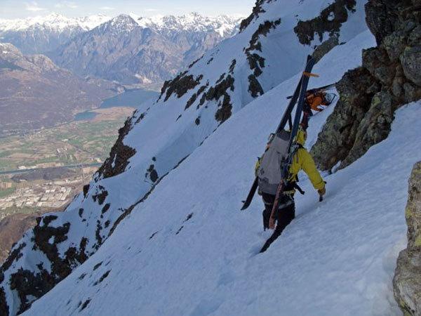 Cittadini della Galassia 1st ski descent by Lafranconi, Pina and Marazzi, arch. Fabrizio Pina