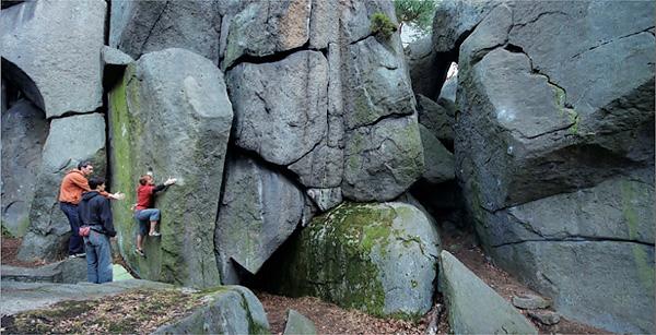 Petrohrad è la miglior zona boulder della repubblica ceca, situata circa 80km ad ovest di Praga, Jiri Sika
