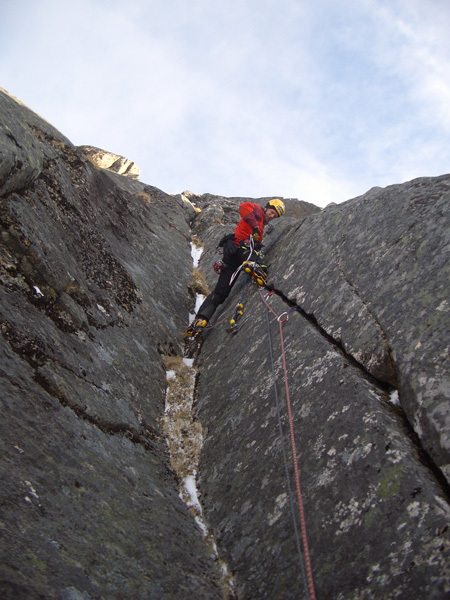 Climbing in one of Europe's last great wilderness areas, the Lofoten islands, Norway., Urs Odermatt