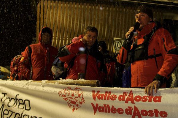 Adriano Favre announces the decision to postpone the Mezzalama ski mountaineering competition., arch. Trofeo Mezzalama