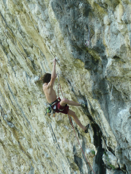 Adam Ondra in action at Covolo., Luigi Billoro