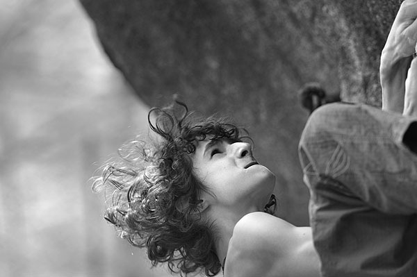 Adam Ondra making the first ascent of Magic Bus, Fb8a+ during the Melloblocco 2009., Giulio Malfer
