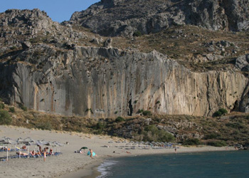Plakias, the spledid crag in southern Crete, with circa 20 routes from 5a - 8a+., Aris Theodoropoulos