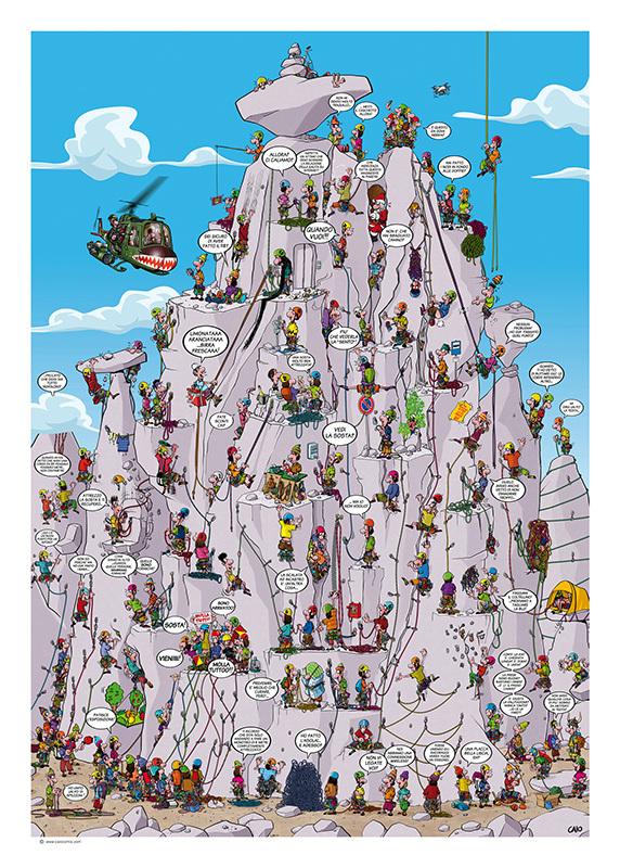 Satira, alpinismo e arrampicata: intervista a Caio Comix