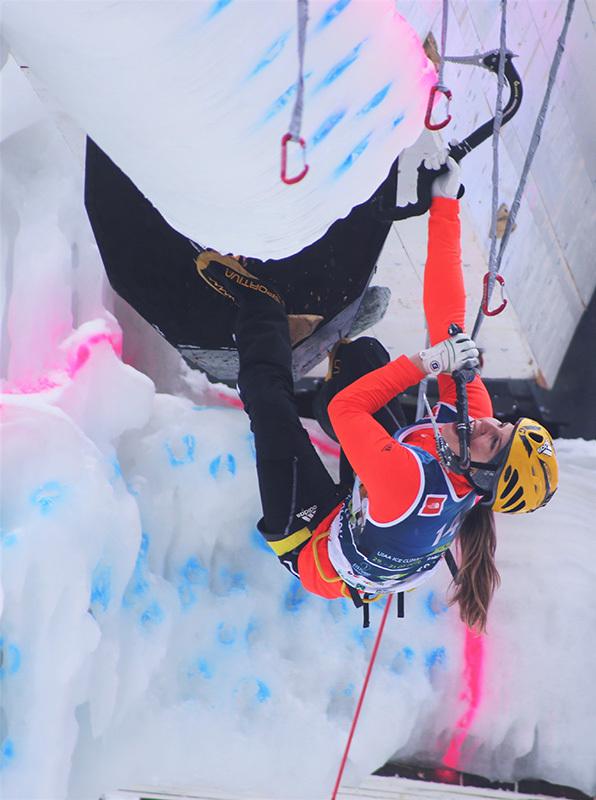 Ice Climbing World Cup 2016 Corvara: Petra Klingler