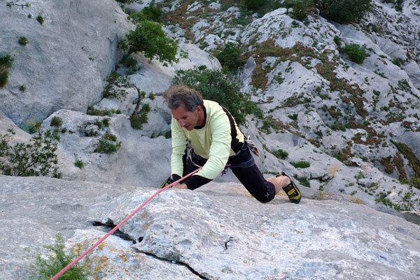 Francesco Mich sul 4° tiro, arch. R. Larcher