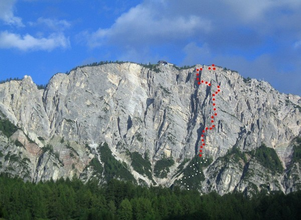 The new via ferrata Sci Club 18 on Monte Faloria, Cortina, Dolomites, Guide Alpine Cortina