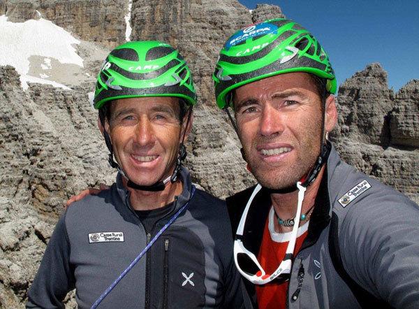 Franco Nicolini e Omar Oprandi un tour sulle vie di Bruno Detassis per ricordare un grande uomo e alpinista., Omar Oprandi