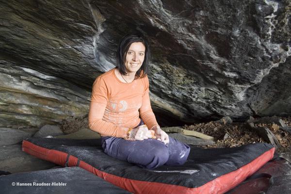 Barbara Raudner climbing Hobbygärtner Fb7c+, Kremstal, Austria, Hanner Raudner-Hiebler