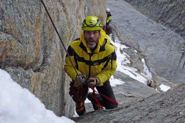 Michele Cagol nei pressi della cima, arch. Karakorum 2009
