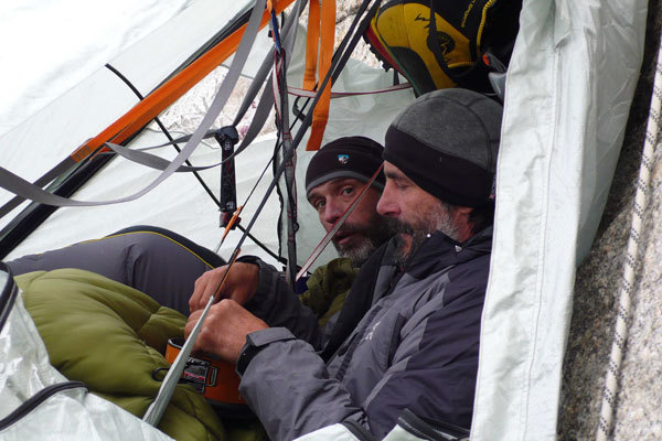 Life in the portaledge, arch. Karakorum 2009