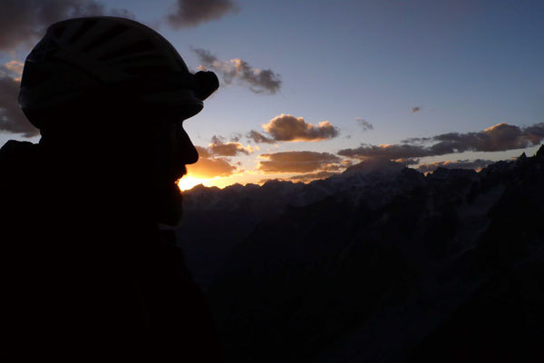 Sunset towards Masherbrum., arch. Karakorum 2009