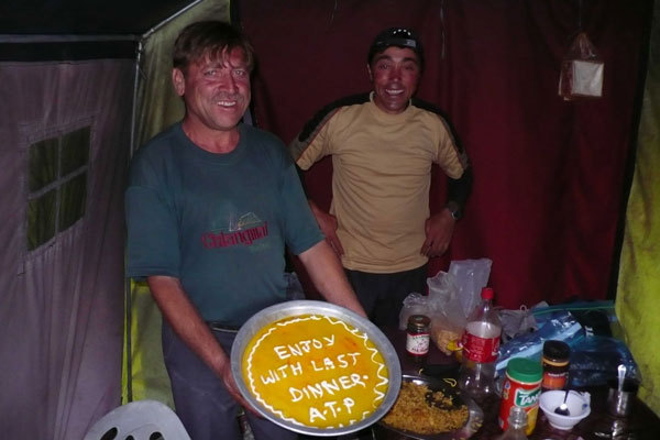 Guide Juma Kan and the cook Ali Kan, two splendid expedition companions, arch. Karakorum 2009