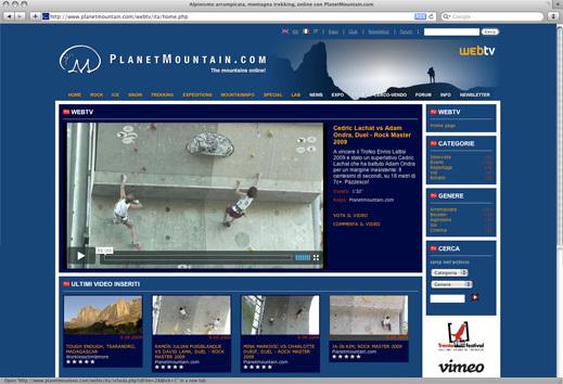 La nuova WebTV di Planetmountain, Planetmountain.com