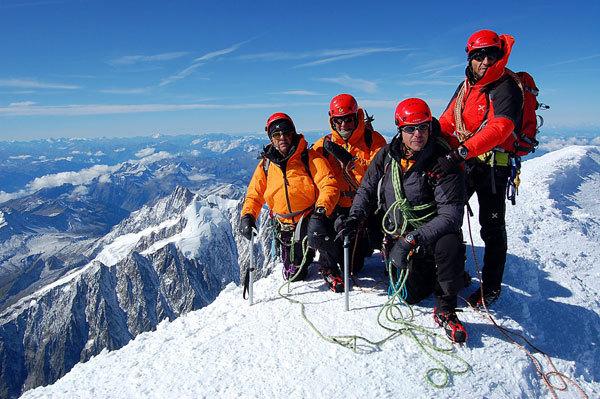 In vetta al Monte Bianco alla fine dell'avventura, Alberto Rizzerio