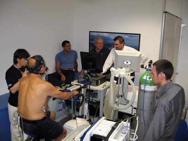 Test in condizioni di sforzo con ossigeno rarefatto, Alberto Rizzerio