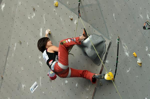 Johanna Ernst durante la  Coppa del Mondo Lead a Puurs 2009, www.worldcuppuurs.com