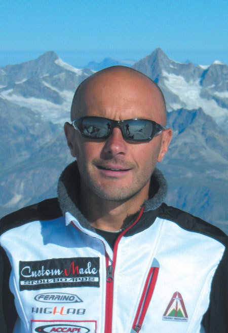Marco Galliano alla Capanna Margherita, Monte Rosa, arch. M. Galliano