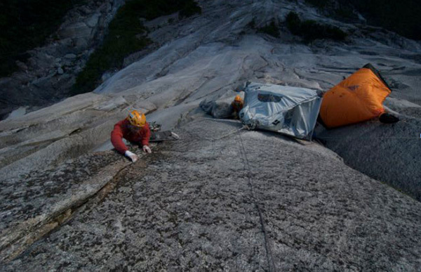 Ivan Tresch on the 7c crux pitch., Tresch archive