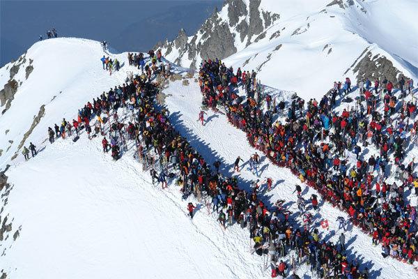 Il pubblico delle grandi occasione per la tappa del Grand Mont alla Pierra Menta 2007., Lorenzo Scandroglio