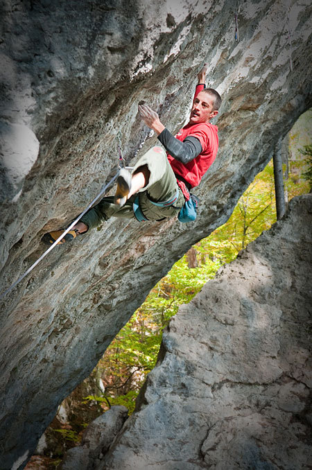 Luca Zardini climbing Welcome to the club, Campo and Volpera, Cortina d'Ampezzo, Giuseppe Ghedina