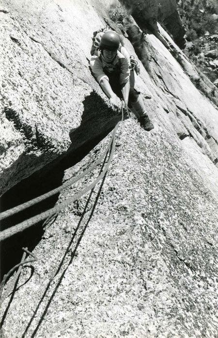 Andrea Giorda in Valle dell'Orco alla fine degli anni '70 ai tempi del Diedro Atomico