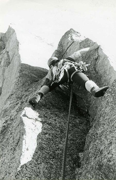 Andrea Giorda e l'arrampicata nella Orcovalley con attrezzatura anni '70 , arch. A. Giorda