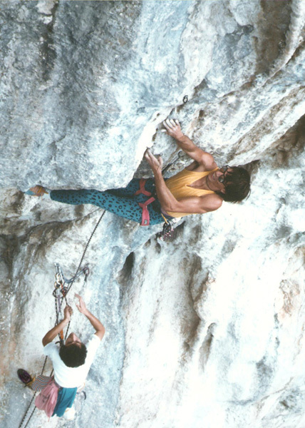 Andrea Da Bari prova La Morte nel 1987 a Pietrasecca , archivio Andrea Da Bari