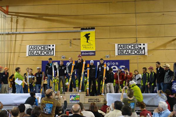 Il podio senior della Pierra Menta 2007., Lorenzo Scandroglio