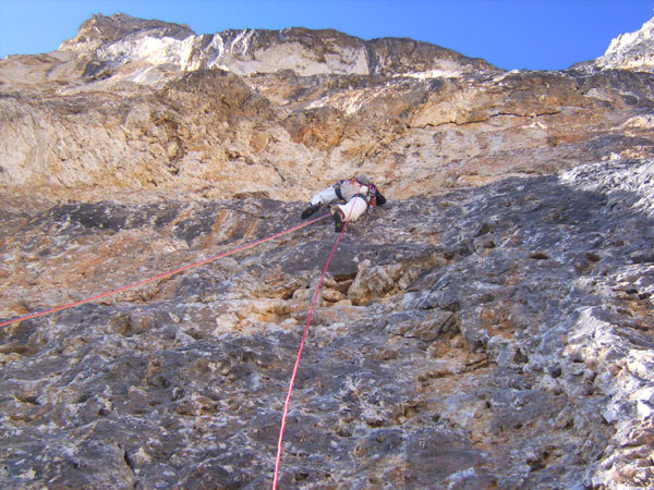Ricardo Scarian on the 6c pitch, arch. R. Scarian