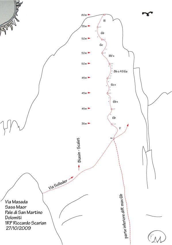 Masada, Sass Maor, Dolomiti, arch. R. Scarian