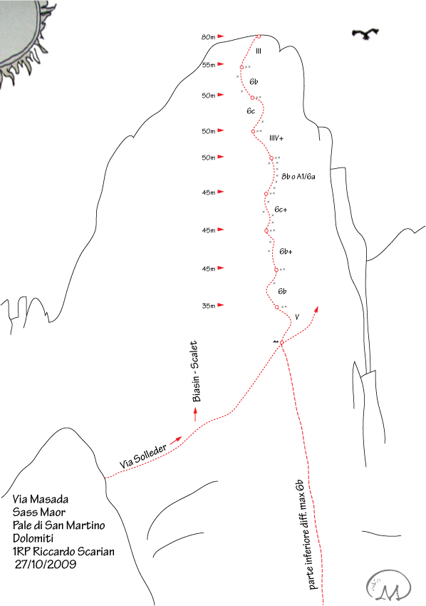 Masada, Sass Maor, Dolomites, arch. R. Scarian