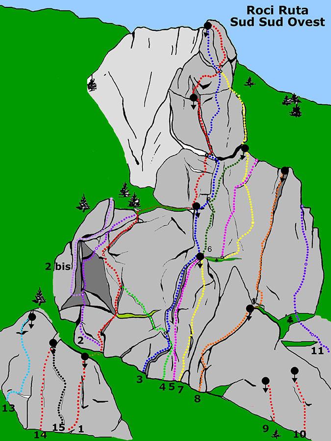 Bec Roci Ruta, Sud sud ovest, arch. Elio Bonfanti