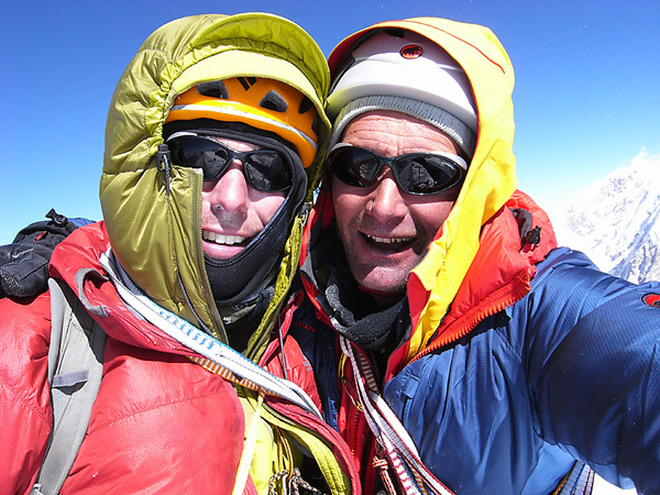 Andy Houseman and Nick Bullock on the summit of Chang Himal (6750m), Nepal, Bullock collection