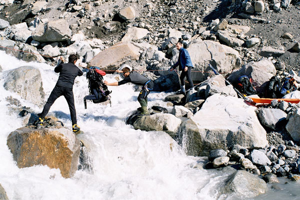 Rio Pantoja nei pressi del ghiacciaio Chico, Marcello Cominetti