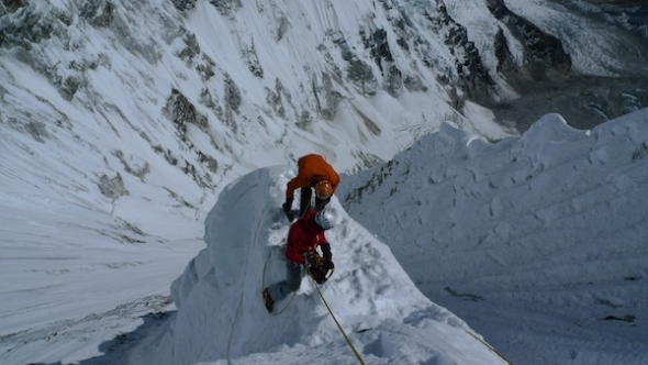Rigging plattform for the tent C2 6500m, arch. Anthamatten