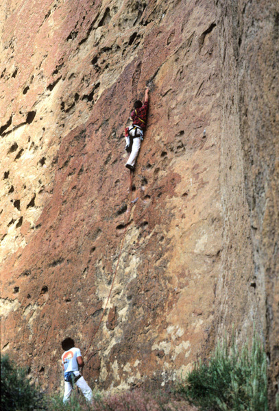 Alan Watts making the first ascent of Zebra Direct in 1979, Alan Watts archive
