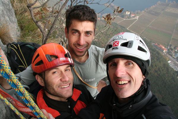 Tiziano Buccella, Geremia Vergoni and Rolando Larcher, arch Rolando Larcher