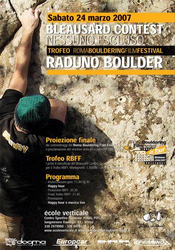 24/03 a l'ècole Verticale Bleausard Contest e 3^ edizione del Roma Bouldering Film Festival:, Planetmountain.com