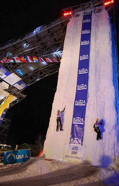 La prima tappa della Ice Climbing World Cup 2010 a Kirov, Russia, A. Paun, UIAA