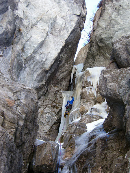 On the second pitch of Wait and Bleed, arch. Bado - Vezzoli