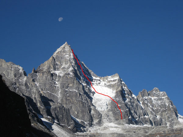 The Phantom of the Opera - Kajo Ri 6189m - Khumbu, Nepal, arch. E. Bonino
