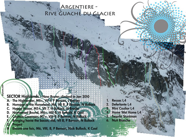 Sector Highlands, Argentiere Rive Gauche, Planetmountain.com
